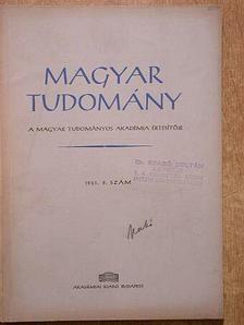 Berrár Jolán - Magyar Tudomány 1961. szeptember [antikvár]