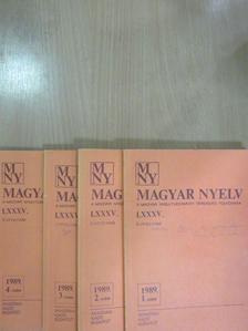 Kiss Lajos - Magyar Nyelv 1989/1-4. [antikvár]