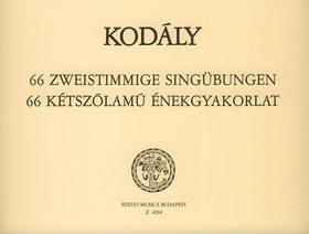 Kodály Zoltán - 66 KÉTSZÓLAMÚ ÉNEKGYAKORLAT