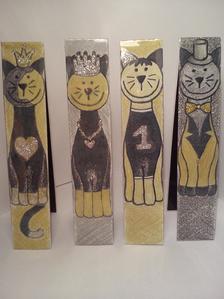 Mágneses könyvjelző (macskás)