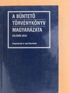 Bócz Endre - A Büntető Törvénykönyv magyarázata [antikvár]