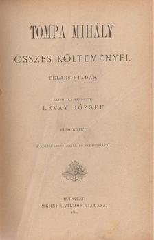 Tompa Mihály - Tompa Mihály összes költeményei I-IV. [antikvár]
