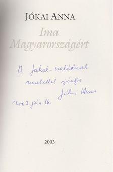 Jókai Anna - Ima Magyarországért (dedikált) [antikvár]