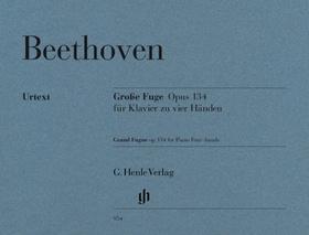BEETHOVEN - GROSSE FUGE OP.134 FÜR KLAVIER ZU VIER HAENDEN URTEXT (HERTTRICH)