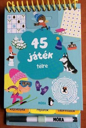 45 játék télre - rejtvények, fejtörők, labirintusok