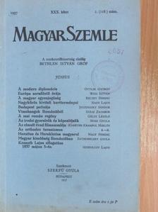 Gáldi László - Magyar Szemle 1937. június [antikvár]