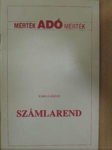 Zara László - Számlarend [antikvár]