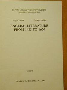 Pálffy István - English literature from 1485 to 1660 [antikvár]