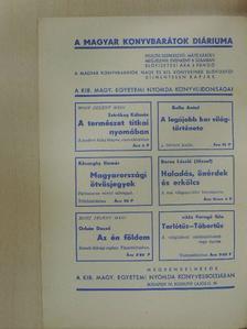 L. Újváry Lajos - Magyar Könyvbarátok Diáriuma 1937. április-május [antikvár]