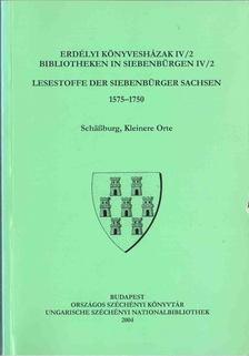 Monok István, Ötvös Péter, Verók Attila - Erdélyi könyvesházak IV/2 / Bibliotheken in Siebenbürgen IV/2 [antikvár]