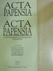 Adriányi Gábor - Acta Papensia 2001/1-4. [antikvár]