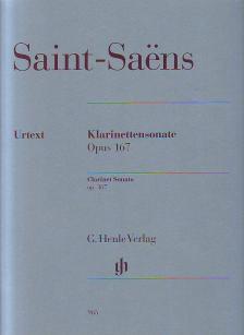 SAINT -SAENS - KLARINETTENSONATE OP.167 FÜR KLARINETTE UND KALVIER URTEXT (JOST / SCHILDE)