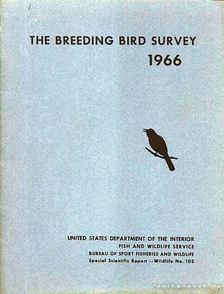 Chandler S. Robbins, Willet T. Van Velzen - The Breeding Bird Survey 1966. [antikvár]