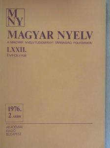 Balázs János - Magyar Nyelv 1976/2. [antikvár]