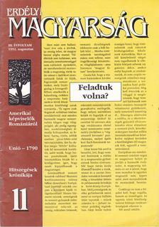 Mátyás B. Ferenc - Erdélyi Magyarság III. évf. 1992. augusztus [antikvár]