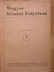 Balázs Lóránt - Magyar Kémiai Folyóirat 1961. január [antikvár]