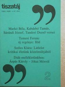 Árpás Károly - Tiszatáj 1993. február [antikvár]