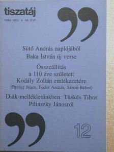 Baka István - Tiszatáj 1992. december [antikvár]