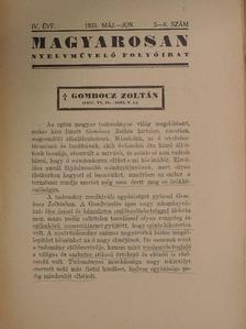 Csengery János - Magyarosan 1935. május-június [antikvár]