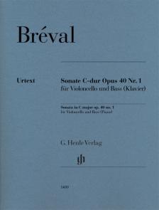 BRÉVAL - SONATE C-DUR OP.40 NR.1 FÜR VIOLONCELLO UND BASS (KLAVIER)