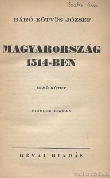 Eötvös József - Magyarország 1514-ben I-II. [antikvár]
