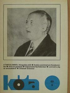 Dr. Tóthpál József - Kóta 1989/9. [antikvár]