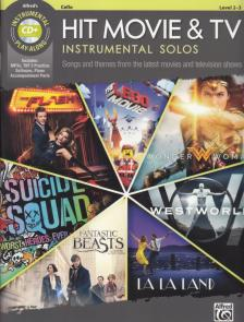 HIT MOVIE & TV INSTRUMENTAL SOLOS CELLO LEVEL 2-3 + CD PLAY ALONG