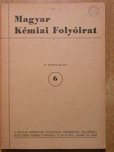 Andriska Viktor - Magyar Kémiai Folyóirat 1961. június [antikvár]