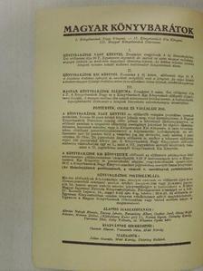 Boross Jenő - Magyar Könyvbarátok Diáriuma 1936. május [antikvár]
