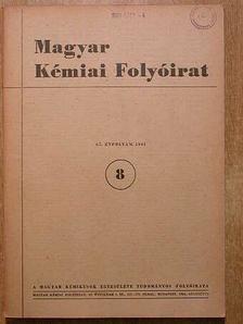 Beke Dénes - Magyar Kémiai Folyóirat 1961. augusztus [antikvár]