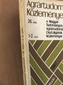 Antal Emánuel - Agrártudományi Közlemények 1967/1-2. [antikvár]