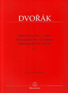 DVORAK - STREICHQUARTETT NR.1 A-DUR OP. 2 (HERAUSG. J. BURGHAUSER, A. CUBR)