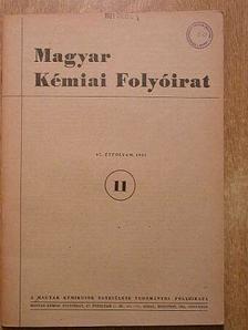 Décsei Lajos - Magyar Kémiai Folyóirat 1961. november [antikvár]