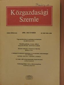 Bóday Pál - Közgazdasági Szemle 1985. december [antikvár]