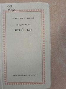 D. Mátai Mária - Gegő Elek [antikvár]