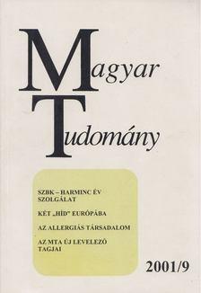CSÁNYI VILMOS - Magyar Tudomány 2001/9 [antikvár]