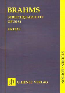 BRAHMS... - STREICHQUARTETTE OP.51 STUDIENPARTITUR URTEXT (SALOME REISER)