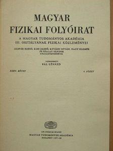 Farkas Győző - Magyar Fizikai Folyóirat XXXV. kötet 4. füzet [antikvár]