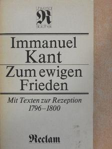 Immanuel Kant - Zum ewigen Frieden [antikvár]