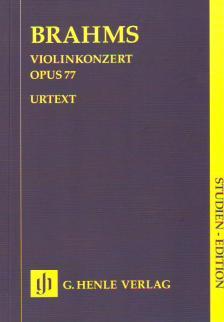 BRAHMS... - VIOLINKONZERT OP.77 STUDIENPARTITUR URTEXT (ROESNER / STRUCK)