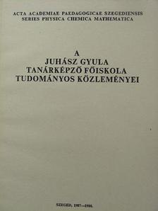 Herzfeld Rozália - A Juhász Gyula Tanárképző Főiskola tudományos közleményei [antikvár]
