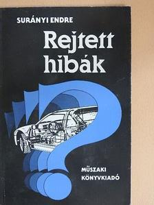 Surányi Endre - Rejtett hibák [antikvár]