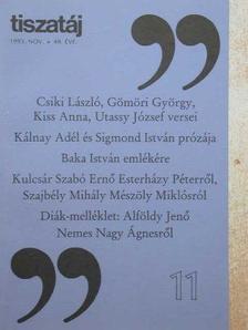 Lászlóffy Aladár - Tiszatáj 1995. november [antikvár]