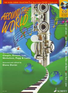 AROUND THE WORLD FOR FLUTE AND PIANO GRADES 6-8 (ELENA DURÁN) PLUS CD