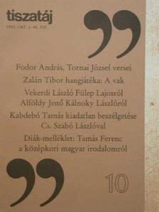 Lászlóffy Aladár - Tiszatáj 1995. október [antikvár]
