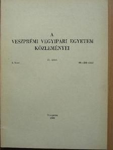 Babos Barnabás - A Veszprémi Vegyipari Egyetem közleményei 11. kötet 2. füzet [antikvár]