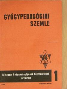 Budayné Balkay Sarolta - Gyógypedagógiai Szemle 1975. január-december [antikvár]