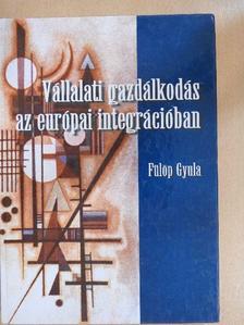 Fülöp Gyula - Vállalati gazdálkodás az európai integrációban [antikvár]