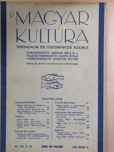Bangha Béla S. J. - Magyar Kultúra 1933. május 5. [antikvár]