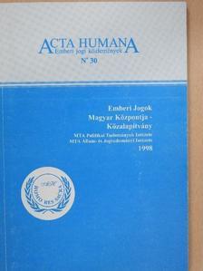 Ádám Antal - Acta Humana 30. [antikvár]